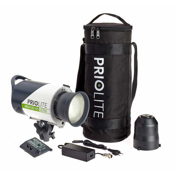 Priolite MBX 500 Hot Sync Ultra Kompaktblitzgerät ULTRA2GO Kit für Fuji T2 und GFX Kameras